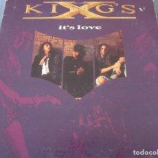 Discos de vinilo: KING'S X - IT'S LOVE - MAXI EDICION INGLESA DEL AÑO 1990.. Lote 171809200