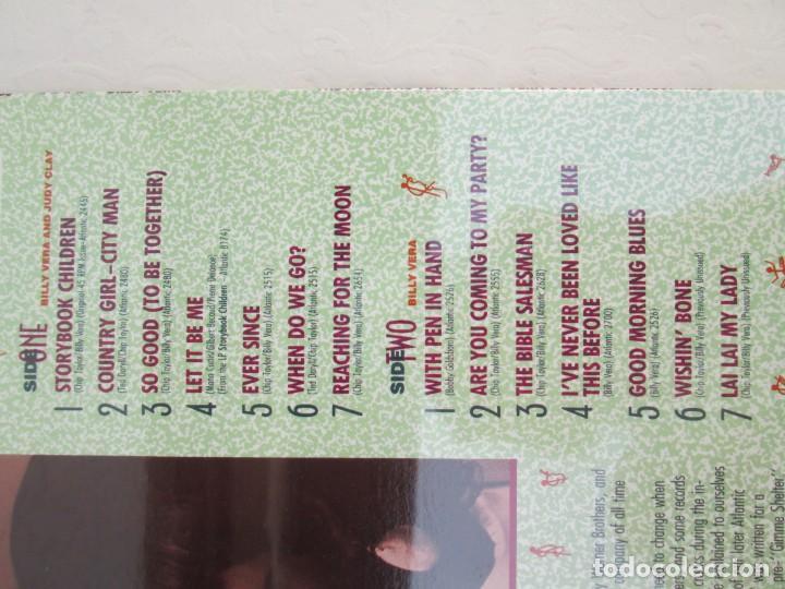 Discos de vinilo: BILLY VERA AND JUDY CLAY. THE ATLANTIC YEARS. LP VINILO. NUEVO SIN DESPRECINTAR. RHINO RECORDS 1987. - Foto 3 - 171815683