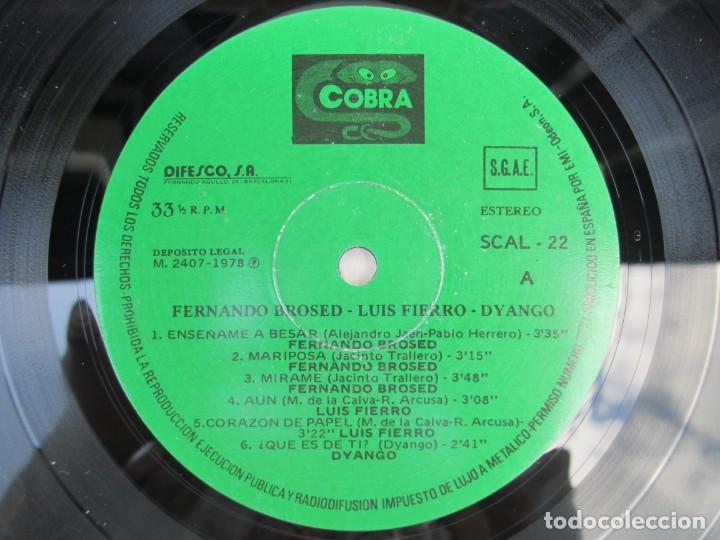 Discos de vinilo: LUIS FIERRO. FERNANDO BROSED. DYANGO. LP VINILO. DIFESCO 1978. VER FOTOGRAFIAS ADJUNTAS - Foto 4 - 171817718