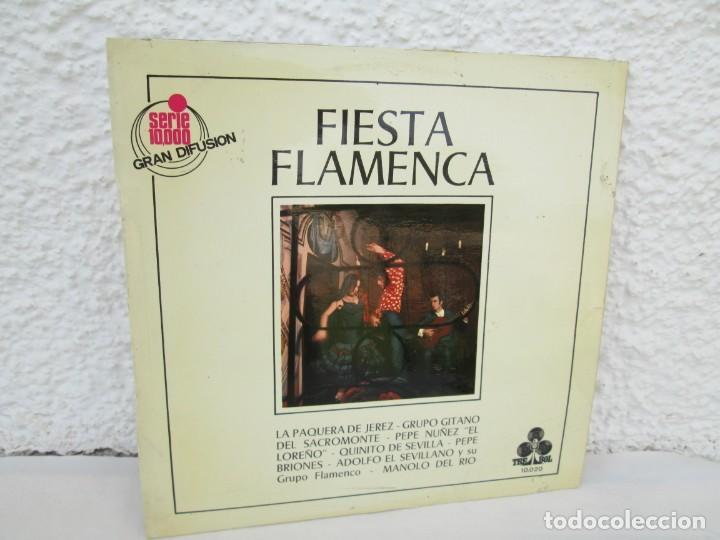 FIESTA FLAMENCA. LA PAQUERA DE JEREZ.. LP VINILO. TREBOL 1970. VER FOTOGRAFIAS ADJUNTAS (Música - Discos - LP Vinilo - Flamenco, Canción española y Cuplé)