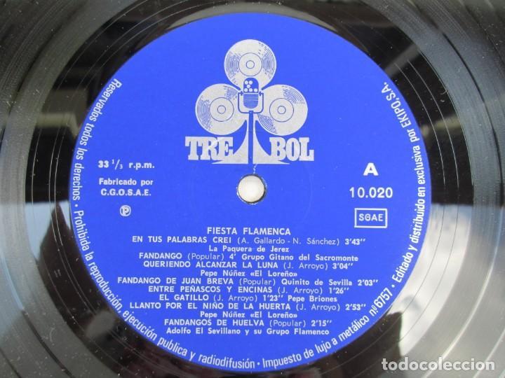 Discos de vinilo: FIESTA FLAMENCA. LA PAQUERA DE JEREZ.. LP VINILO. TREBOL 1970. VER FOTOGRAFIAS ADJUNTAS - Foto 4 - 171818047