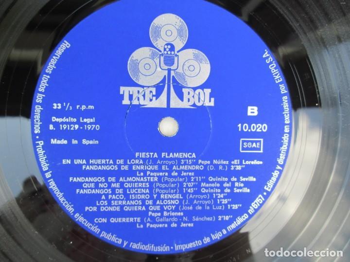 Discos de vinilo: FIESTA FLAMENCA. LA PAQUERA DE JEREZ.. LP VINILO. TREBOL 1970. VER FOTOGRAFIAS ADJUNTAS - Foto 6 - 171818047
