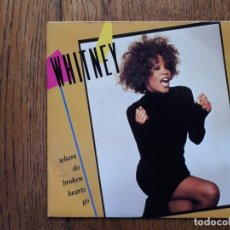 Discos de vinilo: WHITNEY HOUSTON - WHERE DO BROKEN HEARTS GO + WHERE YOU ARE. Lote 171818059