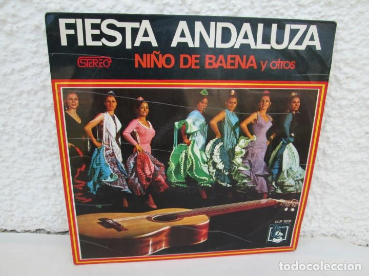 FIESTA ANDLUZA. NIÑO DE BAENA Y OTROS. LP VINILO. DIRESA 1973. VER FOTOGRAFIAS ADJUNTAS (Música - Discos - LP Vinilo - Flamenco, Canción española y Cuplé)