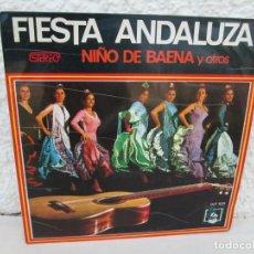 Discos de vinilo: FIESTA ANDLUZA. NIÑO DE BAENA Y OTROS. LP VINILO. DIRESA 1973. VER FOTOGRAFIAS ADJUNTAS. Lote 171818405