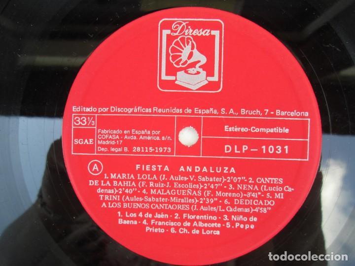 Discos de vinilo: FIESTA ANDLUZA. NIÑO DE BAENA Y OTROS. LP VINILO. DIRESA 1973. VER FOTOGRAFIAS ADJUNTAS - Foto 4 - 171818405