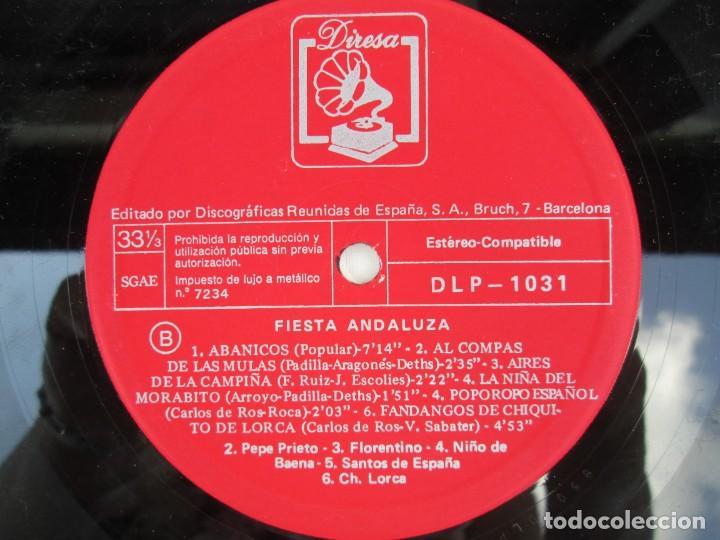 Discos de vinilo: FIESTA ANDLUZA. NIÑO DE BAENA Y OTROS. LP VINILO. DIRESA 1973. VER FOTOGRAFIAS ADJUNTAS - Foto 6 - 171818405