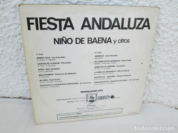Discos de vinilo: FIESTA ANDLUZA. NIÑO DE BAENA Y OTROS. LP VINILO. DIRESA 1973. VER FOTOGRAFIAS ADJUNTAS - Foto 9 - 171818405