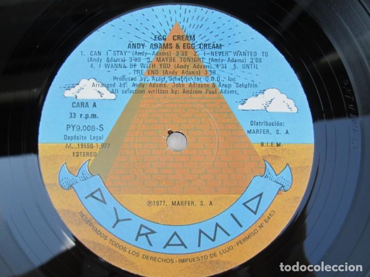 Discos de vinilo: EGG CREAM. ANDY ADAMS & EGG CREAM. LP VINILO MARFER PYRAMID 1977. VER FOTOGRAFIAS ADJUNTAS - Foto 4 - 171819293