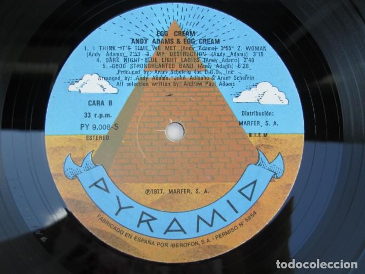 Discos de vinilo: EGG CREAM. ANDY ADAMS & EGG CREAM. LP VINILO MARFER PYRAMID 1977. VER FOTOGRAFIAS ADJUNTAS - Foto 6 - 171819293