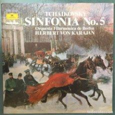 Discos de vinilo: TCHAIKOVSKY - SINFONIA NO.5 - HERBERT VON KARAJAN - DEUTSCHE GRAMMOPHON - 1984. Lote 171821460