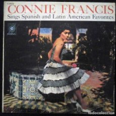 Discos de vinilo: CONNIE FRANCIS - SINGS SPANISH AND LATIN AMERICAN FAVORITES - MGM E-3853 HECHO EN VENEZUELA.. Lote 171822297