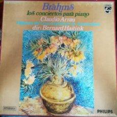 Discos de vinilo: BRAHMS, CONCIERTOS PARA PIANO POR CLAUDIO ARRAU.2 VINILOS. Lote 171823530