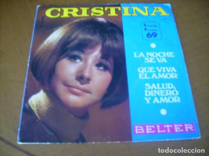 EP : CRISTINA / SALUD DINERO Y AMOR + 2 1969 BELTER 45 RPM (Música - Discos - Singles Vinilo - Solistas Españoles de los 50 y 60)