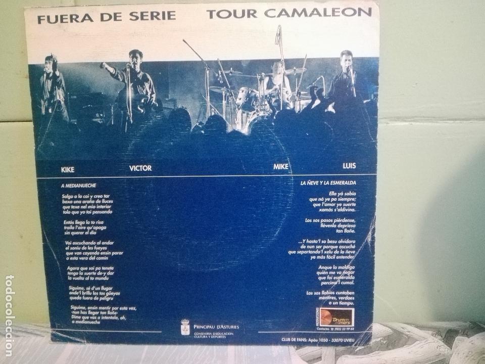 Discos de vinilo: Fuera De Serie -Tour Camaleón. Medianueche (Drummers-Principau D´Asturies, 1990)-ASTURIAS pepeto - Foto 2 - 171836454