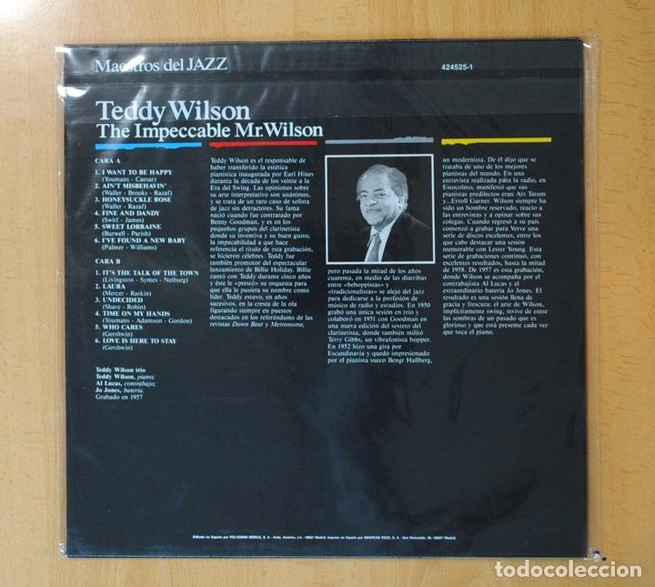 Discos de vinilo: TEDDY WILSON - THE IMPECCABLE MR. WILSON - LP - Foto 2 - 171914973