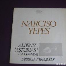 Disques de vinyle: NARCISO YEPES EP MOVIEPLAY 1968 ALBENIZ ASTURIAS + TARREGA TREMOLO - RECITA FERNANDO PIERI . Lote 171932190