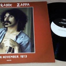 Discos de vinilo: LP - FRANK ZAPPA - LIVE IN NOVEMBER 1973 - ZAPPA. Lote 171957357