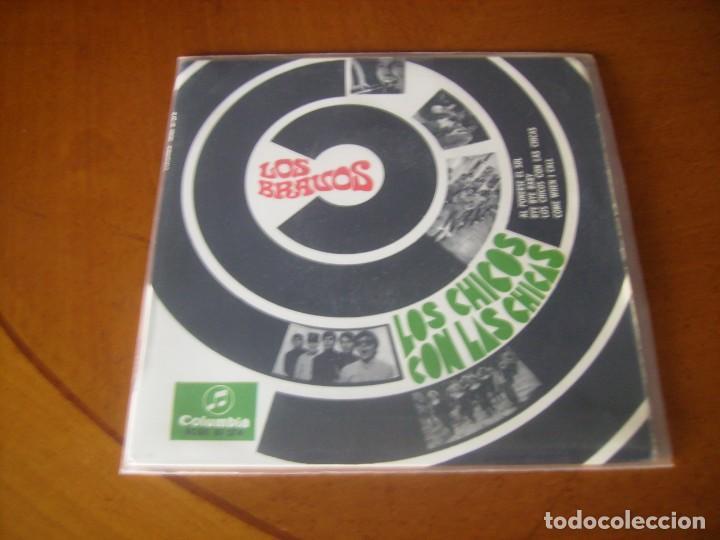 EP : LOS BRAVOS / LOS CHICOS CON LAS CHICAS + 3 1967 LABEL CON TRIANGULO EX (Música - Discos de Vinilo - EPs - Grupos Españoles 50 y 60)