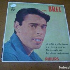 Discos de vinilo: EP : JACQUES BREL / ED SPAIN 1960. Lote 171978602
