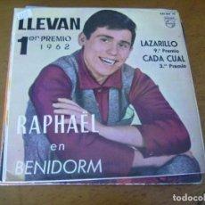 Discos de vinilo: EP : RAPHAEL EN BENIDORM 1962 / DIFICIL EX. Lote 171978765