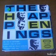 Discos de vinilo: EP : THE HAPPENINGS / ED SPAIN 1967 PORTADA DOBLE 45 RPM EX. Lote 171979164