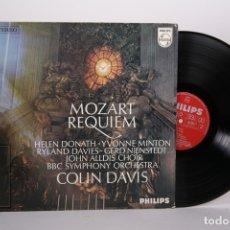 Discos de vinilo: DISCO LP DE VINILO - MOZART REQUIEM / COLIN DAVIS BBC SYMPHONY ORCHESTRA - PHILIPS - HOLANDA. Lote 171988302