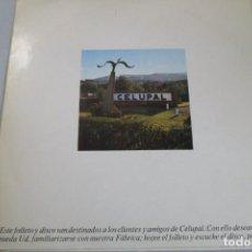 Discos de vinilo: VINILO PROMOCIONAL DE CELUPAL FÁBRICA DE PAPEL DE CÁDIZ. 10 PULGADAS. DISCO PARA CLIENTES.. Lote 171989710