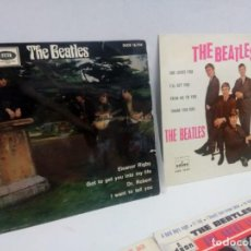 Discos de vinilo: LOTE 5 EP THE BEATLES YESTERDAY, QUE NOCHE LA DE AQUEL DIA, THE BEATLE'S HITS, ELEANOR RIGBY...... Lote 171994923
