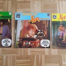 Discos de vinilo: 3 LP`S - LP PIPI CALZASLARGAS - PIPI Y LOS PIRATAS - CANTANDO CON PIPI - DE AVENTURAS POR EL MUNDO -. Lote 172001104