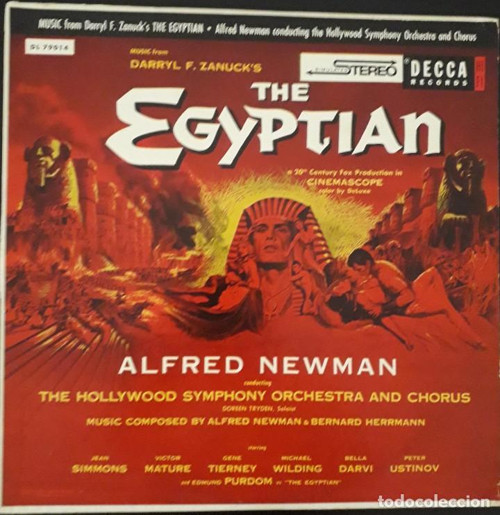 SINUHE EL EGIPCIO. THE EGYPTIAN. ALFRED NEWMAN Y BERNARD HERRMANN (Música - Discos - LP Vinilo - Bandas Sonoras y Música de Actores )