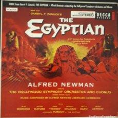 Discos de vinilo: SINUHE EL EGIPCIO. THE EGYPTIAN. ALFRED NEWMAN Y BERNARD HERRMANN. Lote 172003170