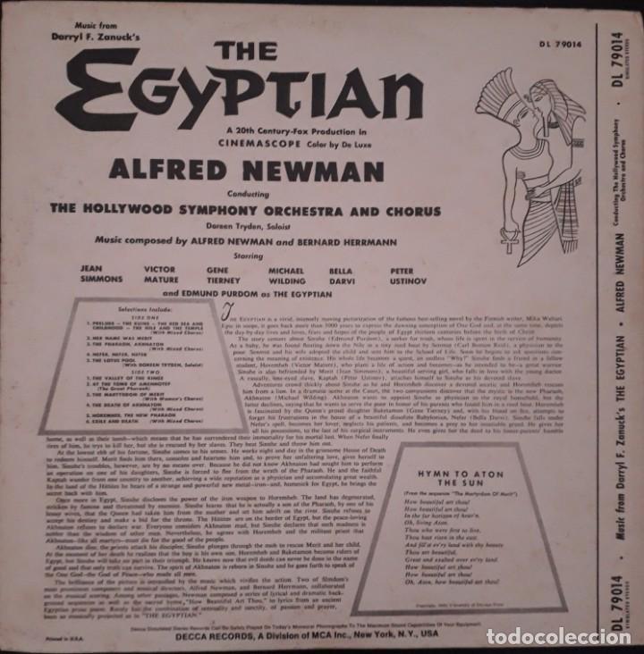 Discos de vinilo: Sinuhe el egipcio. The Egyptian. Alfred Newman y Bernard Herrmann - Foto 2 - 172003170