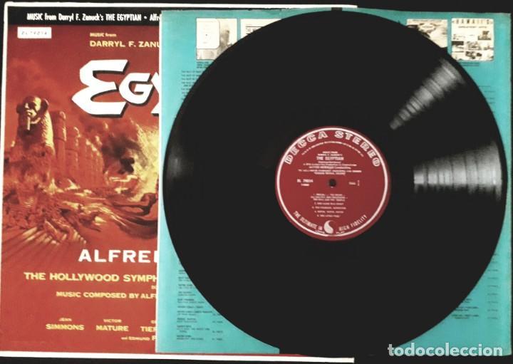 Discos de vinilo: Sinuhe el egipcio. The Egyptian. Alfred Newman y Bernard Herrmann - Foto 3 - 172003170