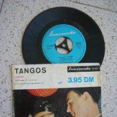 Discos de vinilo: DISCO DE TANGOS CONTIENE 4 TEMAS. Lote 172007352