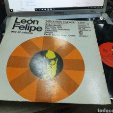 Discos de vinilo: LEÓN FELIPE POR EL MISMO LP ARGENTINA. Lote 172012252