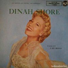 Discos de vinilo: DINAH SHORE - VUELVE A MIS BRAZOS + EP DIFICIL SELLO RCA EDITADO EN SPAIN EL AÑO 1958 EN BUEN ESTADO. Lote 172021274