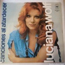Discos de vinilo: DISCO DE LUCIANA WOLF.CANCIONES AL ATARDECER.. Lote 172025429
