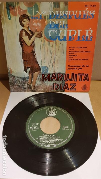 MARUJITA DIAZ / ...Y DESPUÉS DEL CUPLÉ / EP - HISPAVOX-1959 / MBC. ***/*** (Música - Discos de Vinilo - EPs - Bandas Sonoras y Actores)