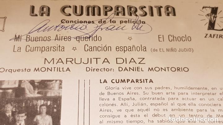 Discos de vinilo: MARUJITA DIAZ / LA CUMPARSITA / EP - ZAFIRO-MONTILLA-1961 / MBC. ***/*** - Foto 3 - 172046669
