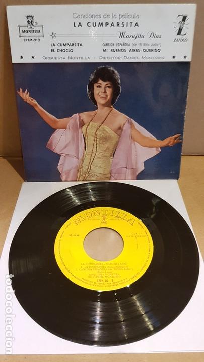 MARUJITA DIAZ / LA CUMPARSITA / EP - ZAFIRO-MONTILLA-1961 / MBC. ***/*** (Música - Discos de Vinilo - EPs - Bandas Sonoras y Actores)
