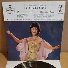 Discos de vinilo: MARUJITA DIAZ / LA CUMPARSITA / EP - ZAFIRO-MONTILLA-1961 / MBC. ***/***. Lote 172046669