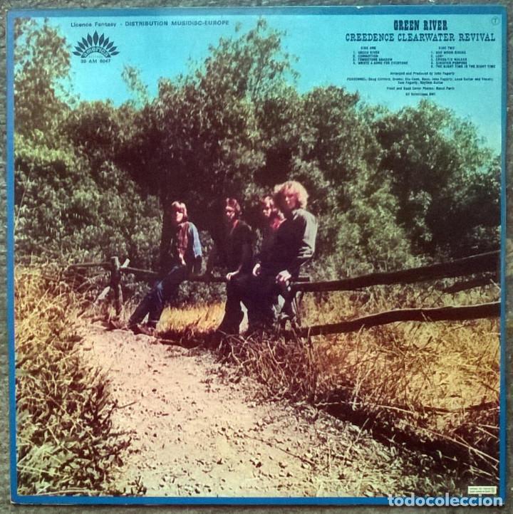 Discos de vinilo: Creedence Clearwater Revival. Green River. America, France 1969 LP 30 AM 6047 - Foto 2 - 194899171