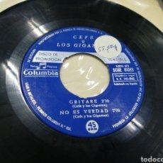 Discos de vinilo: CEFE Y LOS GIGANTES EP PROMOCIONAL GRITARÉ + 3 1965. Lote 172064414