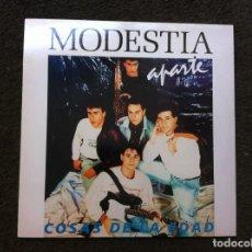Discos de vinilo: MODESTIA APARTE. COSAS DE LA EDAD (LP) 1990. Lote 172065018
