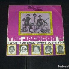 Discos de vinilo: THE JACKSON 5 SINGLE I WANT YOU BACK. Lote 172066928