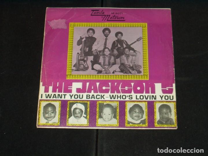 Discos de vinilo: THE JACKSON 5 SINGLE I WANT YOU BACK - Foto 2 - 172066928