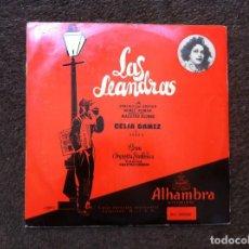 Discos de vinilo: LAS LEANDRAS. CELIA GAMEZ Y COROS. GRAN ORQUESTA SINFÓNICA. DIR. CISNEROS (LP - 10 PULGADAS) . Lote 172067513