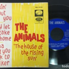 Discos de vinilo: THE ANIMALS THE HOUSE OF THE RISING SUN 7EPL 14.100 SPAIN EP EXCELENTE. Lote 172070264