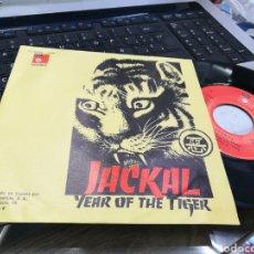 Discos de vinilo: JACKAL SINGLE YEAR OF THE TIGER ESPAÑA 1975. Lote 172072302